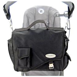 Stroll-Air DB794B Messenger Diaper Bag - Black