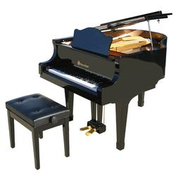 Schoenhut SBG4907B 49 Key Pro Baby Grand Piano - Black