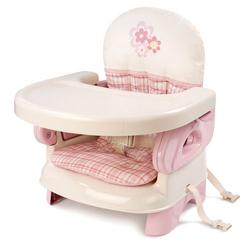 Summer Infant 13060 Deluxe Comfort Folding Booster Seat - Pink