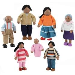 Kidkraft 65234 Doll Family of 7 - African American