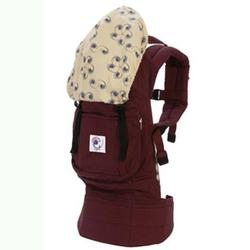 Ergo Baby BC4TOL Organic Twill Cranberry Baby Carrier with Nautilus Print Lining