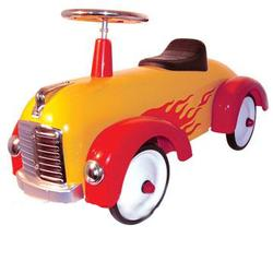 Charm Company 82321 Metal Yellow Speedster with Red Flames