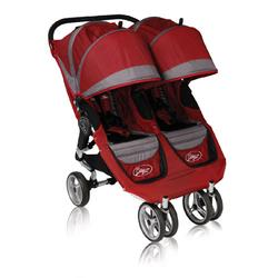 Baby Jogger 87176 2010 City Mini Double Stroller, Crimson-Gray