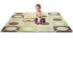 Skip Hop 242008 Playspot Interlocking Foam Tiles - Green/Brown