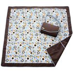 JJ Cole 5 Ft x 5 Ft Blanket - Cocoa Bubble