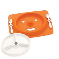 Skip Hop 263001 Mate Stay Put Mat + Plate  - Orange