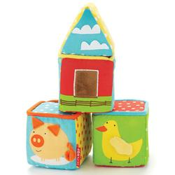 Skip Hop 307001 Funky Farmyard Toys - Build-a-barn Blocks Picture