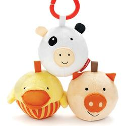 Skip Hop 307003 Funky Farmyard Toys - Animal Ball Trio
