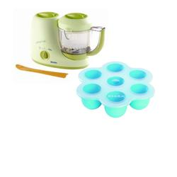 Beaba B2066  Baby Cook Set - Baby Cook and Multiportions - Blue