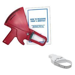 Slim Guide SKFLDRD Skinfold Caliper - Red With MT05 MyoTape Body Tape Measure