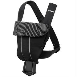 Baby Bjorn 023020US Baby Carrier Original - Black / Pinstripe
