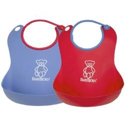 Baby Bjorn 046506US Soft Bib  (2Pk) - Red / Blue