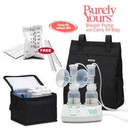Ameda 17077KIT5, Purely Yours Breast Pump, Combo# 5 with Carry All Bag and Ameda Milk Storage Bags