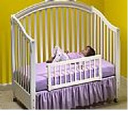 KidCo BR102 Convertible Crib Rail - White Mesh
