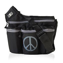 Diaper Dude 100P BLACK BAG WITH PEACE