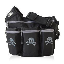 Diaper Dude 100S BLACK SKULL & CROSS BONES BAG