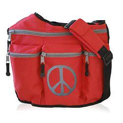 Diaper Dude 103P RED PEACE DIAPER BAG