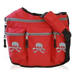 Diaper Dude 103S RED SKULL & CROSSBONES