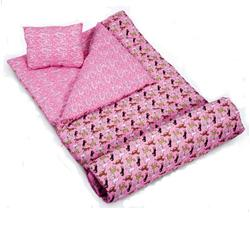 Wildkin 17030 Horses in Pink Sleeping Bag