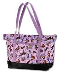 Wildkin 29018 English Riding (purple) Tote Bag