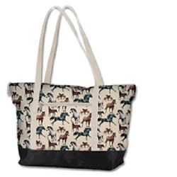 Wildkin 29025 Horse Dreams Tote Bag White