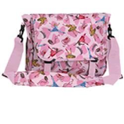 Wildkin 30003 Pink Ballerina Messenger Bag LARGE