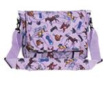 Wildkin 30018 Purple English Riding Messenger Bag LARGE