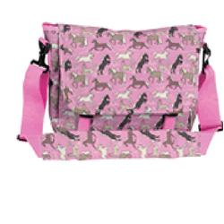 Wildkin 30020 Horses in Pink Messenger Bag LARGE