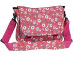 Wildkin 30024 Pink Polka Dot Messenger Bag LARGE