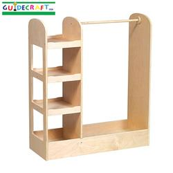 Guidecraft 98102 See and Store Dress Up Center - Natural
