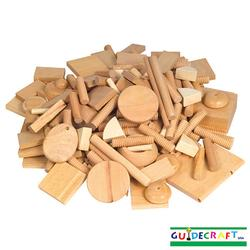 Guidecraft 401 Vari-Design Wooden Shapes (6 Lbs.)