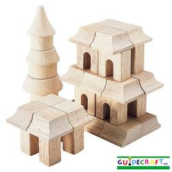 Guidecraft 6102 Table Top Blocks, Oriental