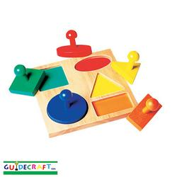 Guidecraft 527 Geo Puzzle Board