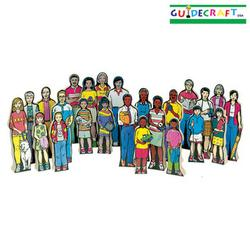 Guidecraft 121 Multi-Cultural Family Kit (Set of 24)