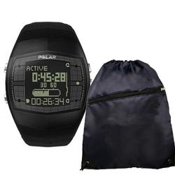 Polar FA20 99041398 Men's Activity Computer Watch (Black) with FREE Cinch Bag