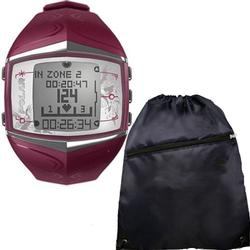 Polar FT60 Heart Rate Monitor 99041403, Female Purple with FREE Cinch Bag