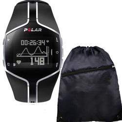 Polar FT80 Heart Rate Monitor 99041391, Black  with FREE Cinch Bag