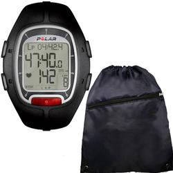 Polar RS-100 Heart Rate Monitor, Black with FREE Cinch Bag