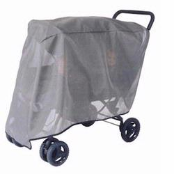 Sashas Kiddies Model 520 Double Stroller Sun Protector for Tandem Double Strollers with Canopies