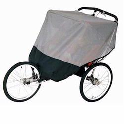 Sashas Kiddies Model BJP2 Double Jogging Stroller Sun Protector for Baby Jogger Performance Double Strollers