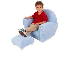 Kidkraft 18634 Powder Blue Chenille Upholstered Rocker & Otto