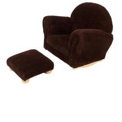 Kidkraft 18638 Chocolate Chenille Upholstered Rocker & Otto