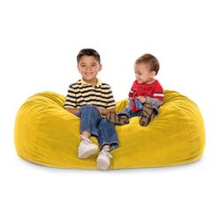 JAXX KIDS 11641277, JAXX LOUNGER JR - MICROSUEDE LEMON