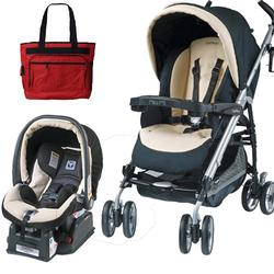 Peg Perego Pliko P3 Travel System Classic Paloma with Free Diaper Bag