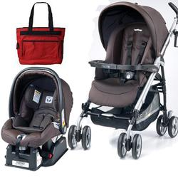 Peg Perego Pliko P3 Travel System Classic  Cacao with Free Diaper Bag