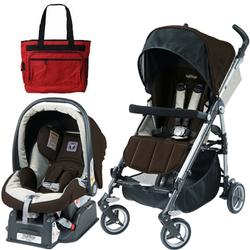 Peg Perego Si Travel System in Java with Fashionable Diaper bag
