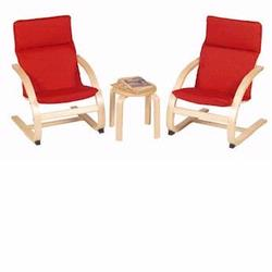 Guidecraft 6400 Kiddie Rocker Chair Set, Red