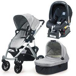 UPPAbaby VISTA Mica Travel System With Peg Perego Nero Car Seat