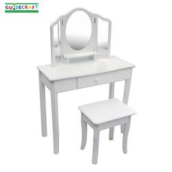 Guidecraft 85710 Classic White Vanity and Stool