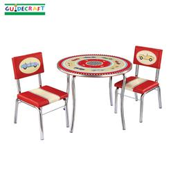 Guidecraft 85802 Retro Racers Table & Chairs Set